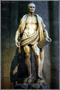 Statue de l'écorché du Dome de Milan