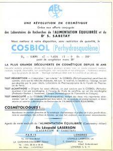Publicité Cosbiol 1954